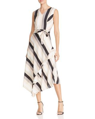 1ec30c7c2a4 Calvin Klein Striped Sleeveless Midi Dress