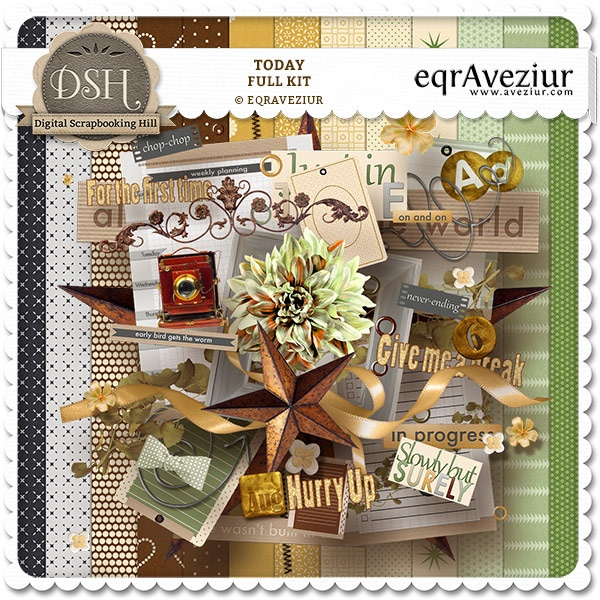 Today Page Kit : DSH: Digital Scrapbooking Hill - high quality CU and PU elements, exclusive products, kits, freebies and more...