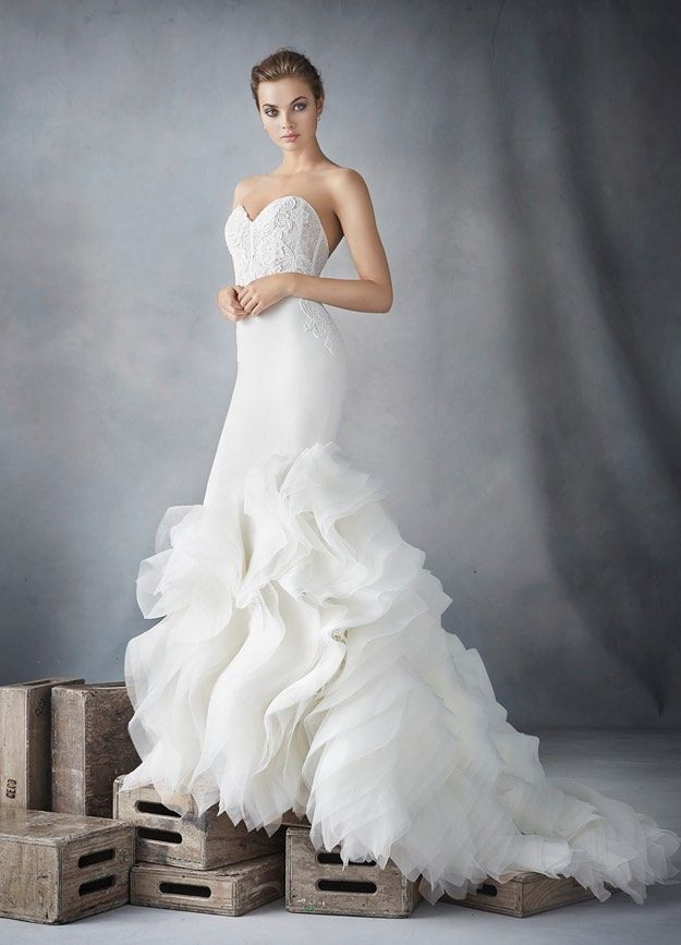 Timeless mermaid Lazaro wedding dresses