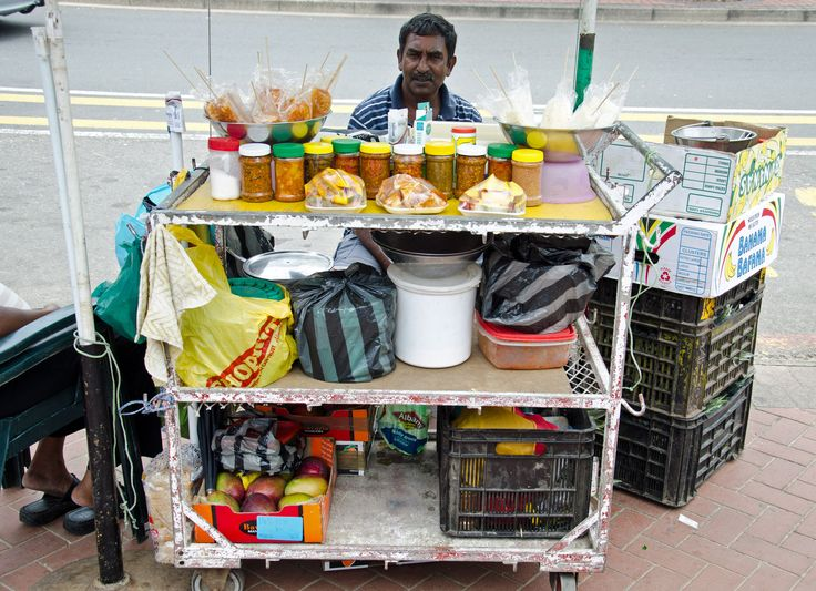 The chilli pineapple, mango and pickle sellers at the beachfront - defining feature in Durbans