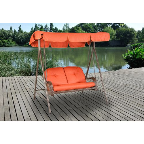 Better Homes and Gardens Outdoor Swing with Canopy - Walmart.com ::: JAM DESIGNS ::: PATIO FURNITURE! ::: www.JAMDesignFirm.com ::: #JAMDesigns
