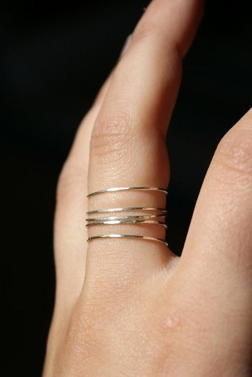 thin ring stack. Love the stacked rings look if you have thin fingers, unlike mine! Cool look. #bluedivagal, bluedivadesigns.com