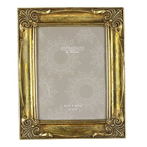 """Antique Vintage Ornate Classical Style Gold Photo Frame 6x8"""" Impressions http://www.amazon.co.uk/dp/B00T9TAEDG/ref=cm_sw_r_pi_dp_YJ1Ywb1RBPZSF"""