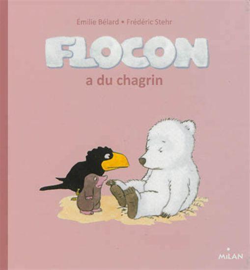 Flocon a du chagrin  3199700096519 CPRPS Flocon est très triste, il s'est fait disputer par son papa et est persuadé que celui-ci ne l'aime plus. Ses amis font tout pour le consoler.