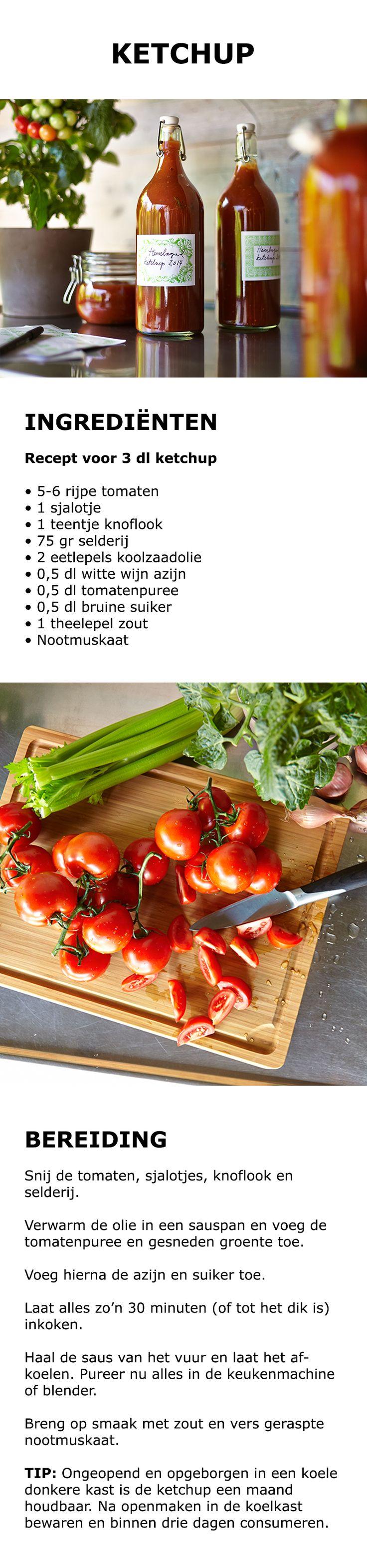 Inspiratie voor de keuken - Zelf ketchup maken | STUDIO by IKEA IKEAnl IKEANederland tomaten ketchup tomatenketchup duurzaam saus knoflook selderij puree DIY