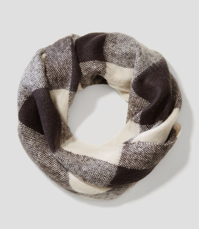 Primary Image of Brushed Plaid Infinity Scarf