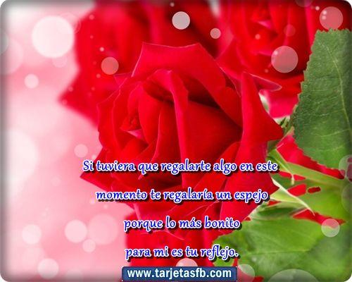 Tarjetas De Amor Con Rosas Rojas | Tarjetas de rosas rojas con frases de amor para facebook