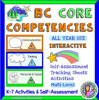 Fun activities to explore the new BC Core Competencies with your K-7 students. This teaching resource includes self-assessments and interactive printables, for the new BC curriculum. You will find assessment forms, hands-on activities, interactive notebook material, and more! Topics include: Communication, Creative Thinking, Critical Thinking, Positive Personal & Cultural Identity, Personal Awareness and Responsibility, and Social Responsibility. Aligned with British Columbia core…