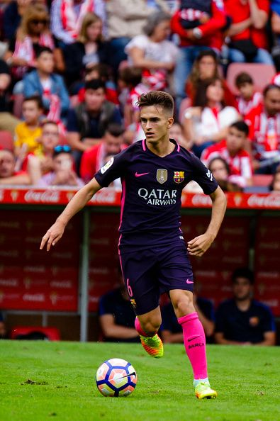 Denis Suarez of FC Barcelona during the match between Real Sporting de Gijón vs Futbol Club Barcelona at estadio El Molinón on September 24 2016 in...