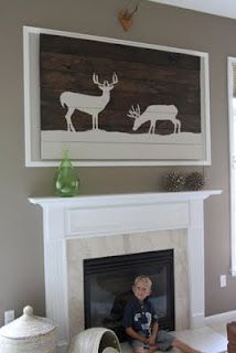 Homemade wall art @Staci Flick I can see this in your Dan house lol