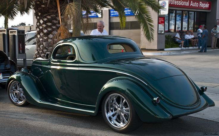 Emerald green metallic 1935 ford 3 window coupe for 1935 pontiac 3 window coupe