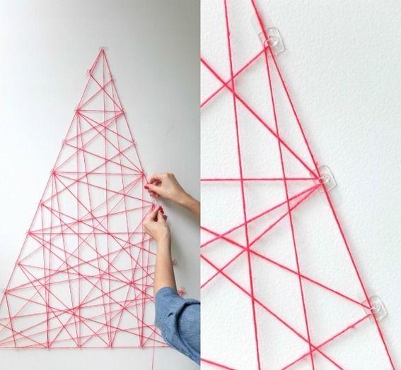 Roundup: 10 Space Saving Christmas Trees You Can Hang on the Wall