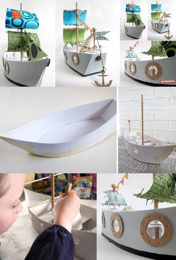 Handmade Paper Pirates Ship Toy: