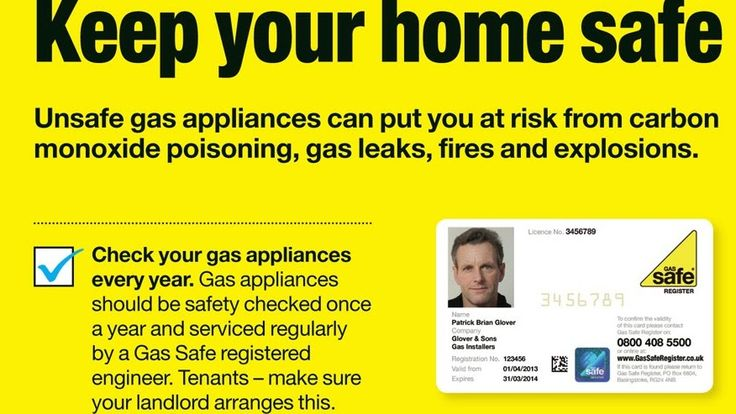 Keep Your Home Gas, Only Use Gas Safe Registered Engineers.....