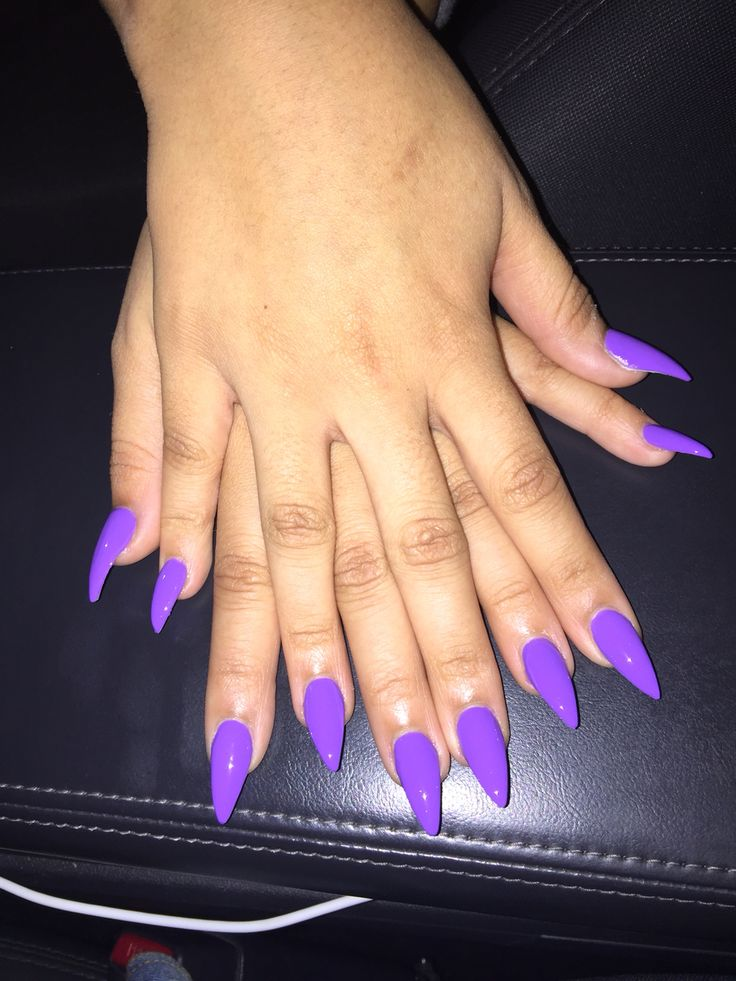 The 25 best purple stiletto nails ideas on pinterest stiletto purple stiletto nails solutioingenieria Image collections
