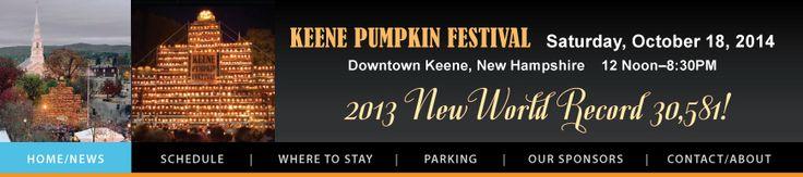 Keene Pumpkin Festival-- one of my top items on Bucket list