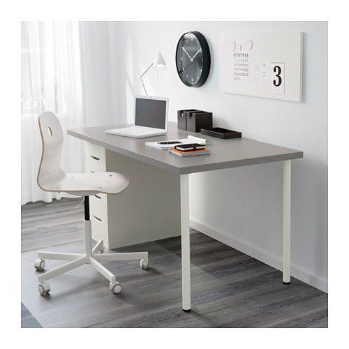 linnmon alex table grey white grey white 150x75 cm space pinterest alex o 39 loughlin. Black Bedroom Furniture Sets. Home Design Ideas