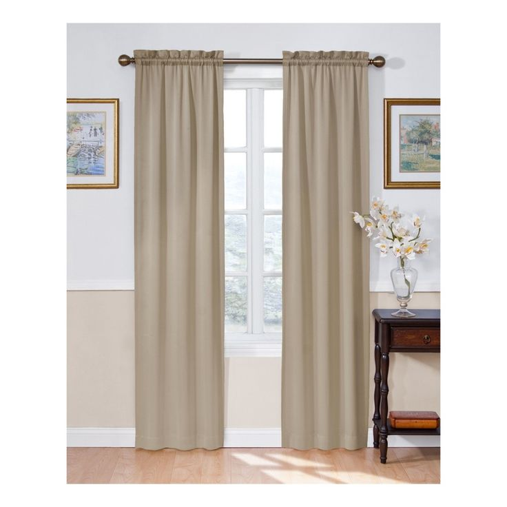 Eclipse Solid Thermapanel Room - Darkening Curtain Taupe (Brown) 54X63
