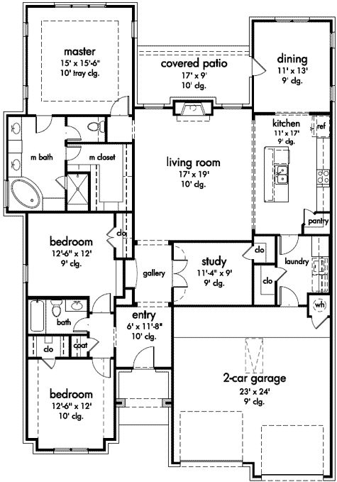 35 best house plans under 2000 sq ft images on pinterest for Farmhouse plans under 2000 sq ft