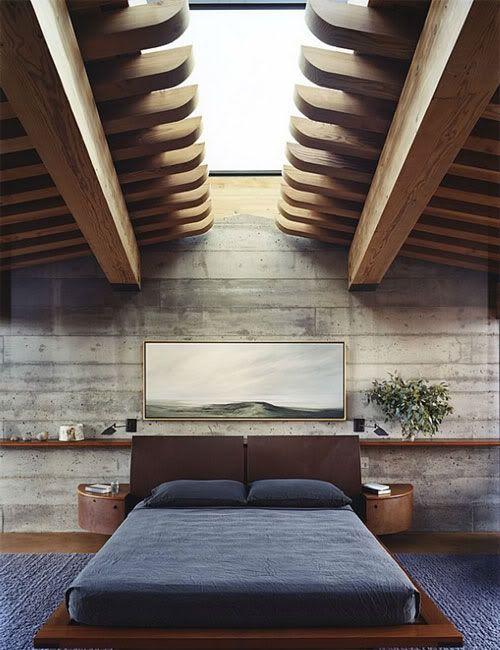 Chambre poutres #bois #architecture