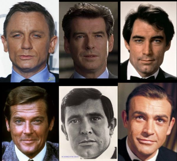 All the James Bonds Combined- James Bond is one of the longest continually-running film series in history, having been in on-going production from 1962 to the present  In that time Eon Productions has produced 23 films.
