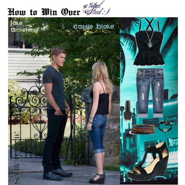How to Win Over a Total Stud, created by glidy101 on Polyvore  Secret Circle Chris Zylka, Brittany Robertson. Characters Cassie & Jake