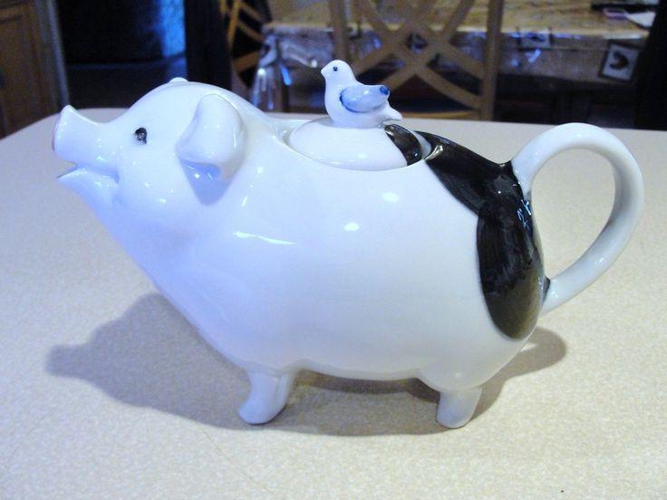 Vintage Takahashi San Francisco Figural Pig Teapot With A