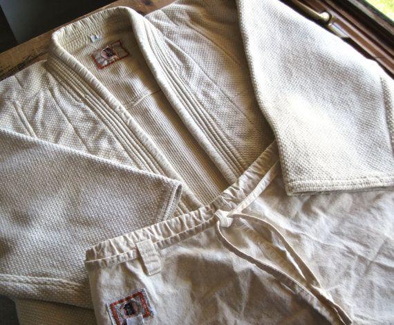 Vintage Japanese Kodokan Judo Gi Uniform, Jacket and Pants, JuJitsu, Martial Arts Grappling