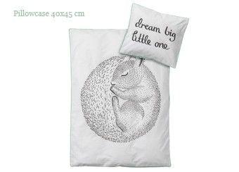 parure de lit bébé 'Squirrel Mint' (100x140) Bloomingville | shop pour enfants Le Petit Zèbre
