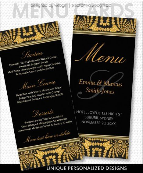 Pin On Menu Cards Product