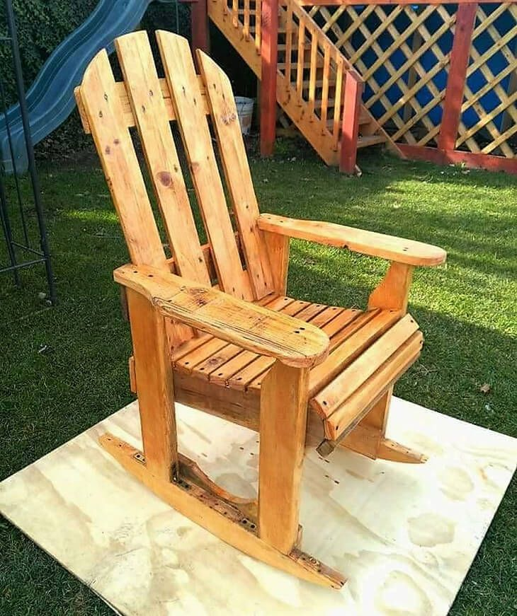 Diy Pallet Rocking Chair Plans Fabric Desk Wood Pallets Plan In 2018 Ideas Pinterest Furniture And