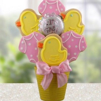 Welcome Baby Girl Cookie Bouquet