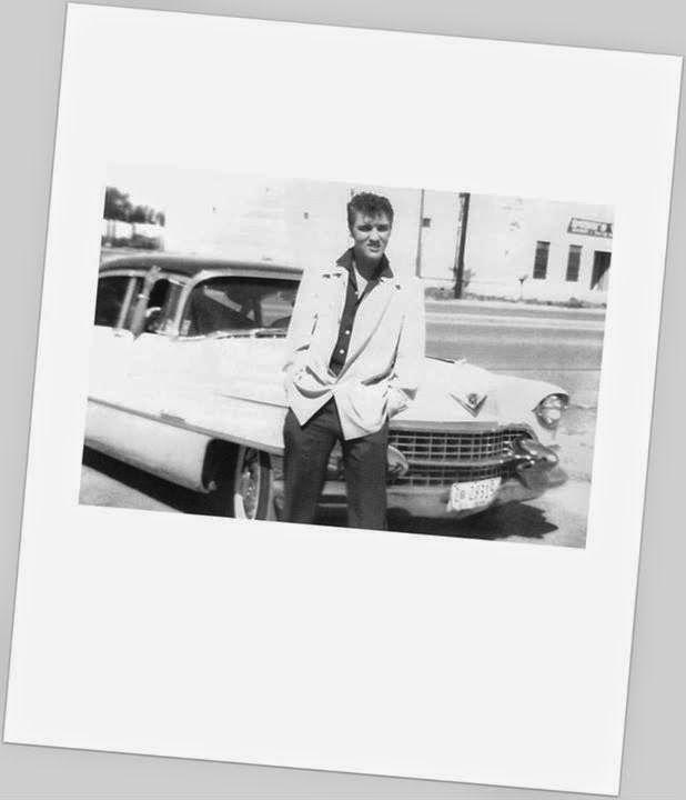October 12, 1955 - Elvis Presley and his pink Cadillac, Midland, Texas