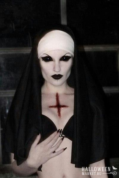 #nun #makeup #costume #halloweenmarket #halloween  #костюм #монашка #образ #страх Страшная монашка на хэллоуин (фото)