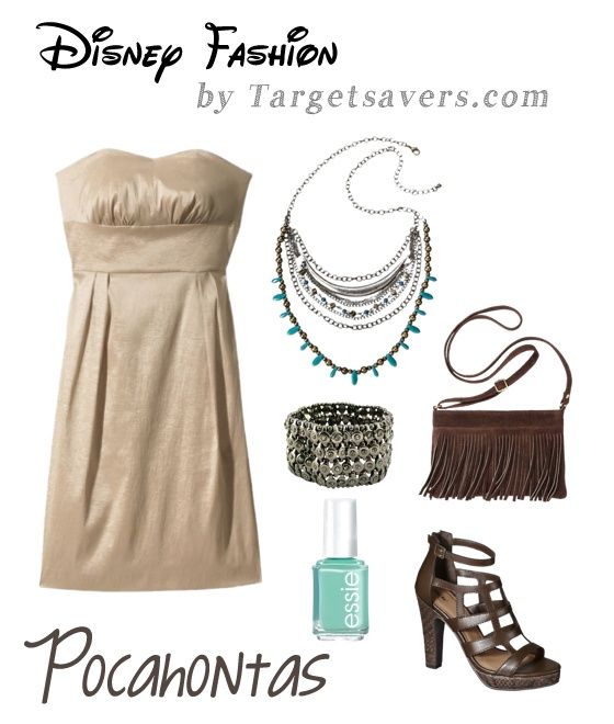 Disney Fashion:  Modern Pocahontas Look.  Everything is from Target!