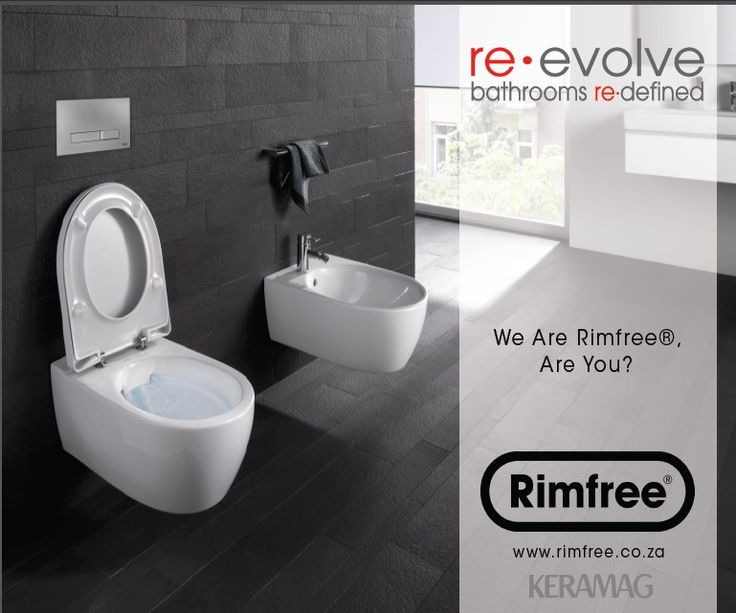 #Keramag #Rimfree Toilets - no rim means less cleaning and toilets stay germ free. We're Rimfree, are you?