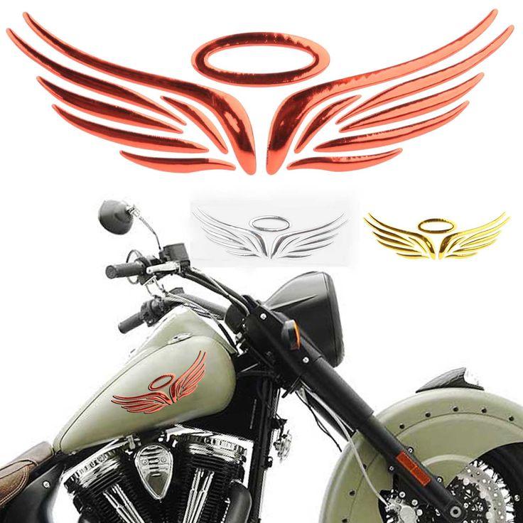 1pc 3D Angel Wing Auto Car Sticker Windows Decal Emblem Label Badge 3Colors