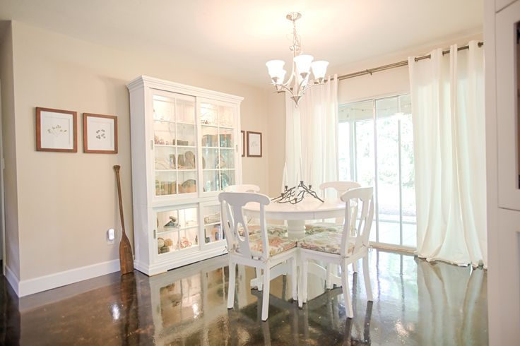 The Dining Room Painted Benjamin Moore S Cedar Key Is
