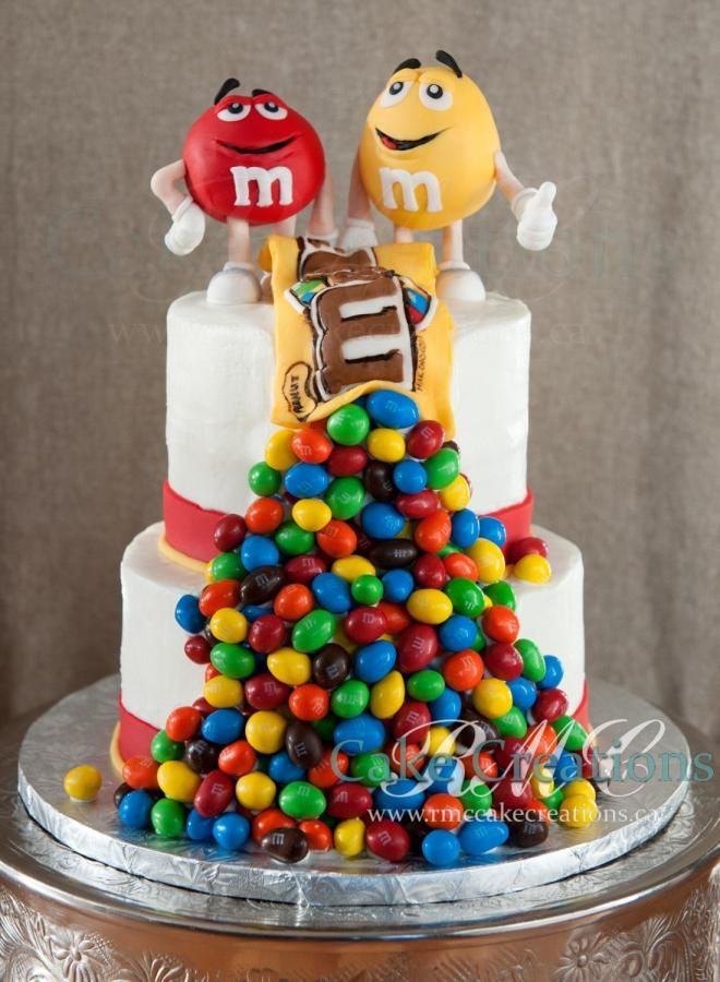 M&M's Peanuts Cake - Cake by RMCCakeCreations
