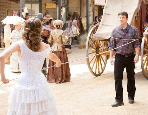 Castle39s Kate Stana Katic Beckett39s 6th Season Wedding Dress