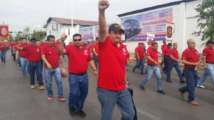 Afiliados a Los Mineros marcharon el 7 de abril en apoyo a los trabajadores en huelga de Primero Mining Corp