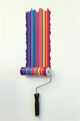 Paint roller lamp Paint roller lamp, comes with interchangeable designs