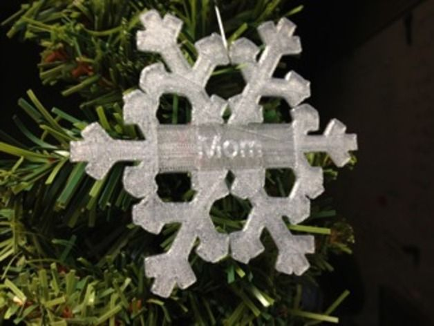 A snowflake-shaped ornament to personalize for a friend/loved one (or for yourself!). Hang it on your tree, put it in your window, or even dangle it from your car's rear-view mirror.