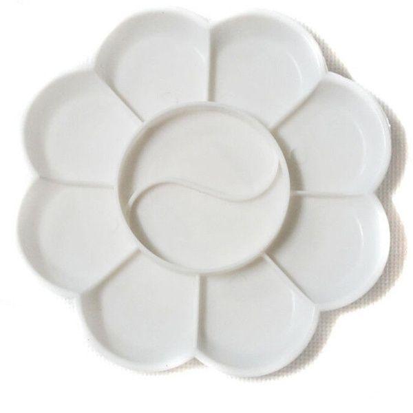 Darice 1192 10 Well Round Plastic Palette 7-Inch Diameter