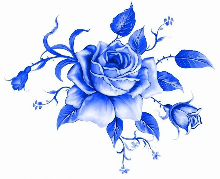 Гжель розы картинки
