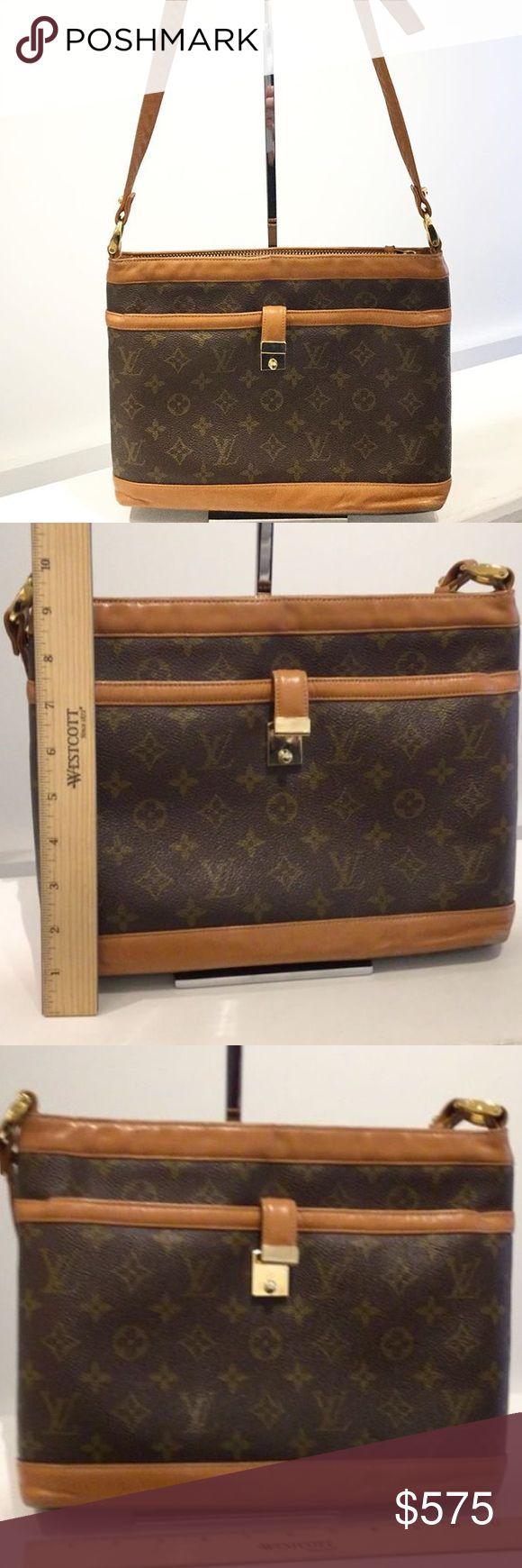 100% Authentic Vintage Louis Vuitton Shoulder Bag 100% Authentic Vintage Louis Vuitton Shoulder Bag.  Good used vintage condition. Sold in As Is Condition (see detailed pics). Louis Vuitton Bags Shoulder Bags