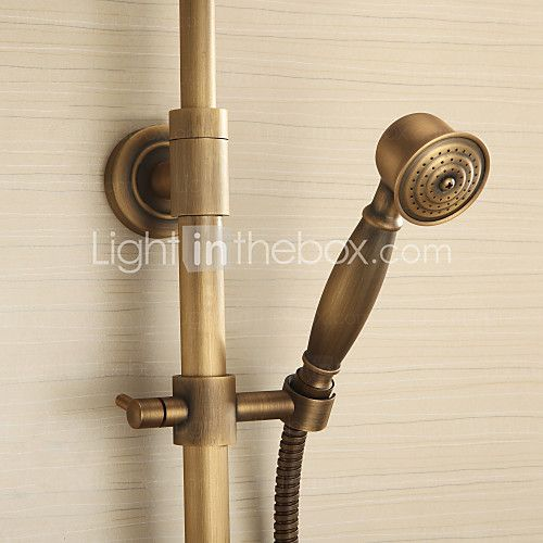 Antique Brass Tub Shower Faucet with 8 inch Shower Head + Hand Shower 2017 - $140.39