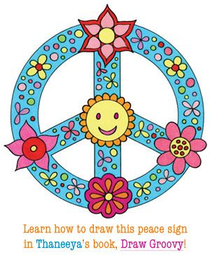learn how to draw this whimsical peace sign in the book