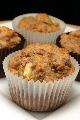 Suikervrije appel-bananenmuffins