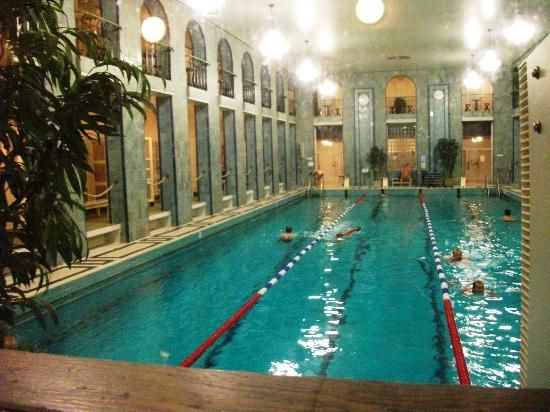 Yrjönkatu Swimming Hall, Helsinki. The oldest in Finland, recently restored it offers a great wood sauna + a hammam + possibility for refreshments and food on the second level balcony.